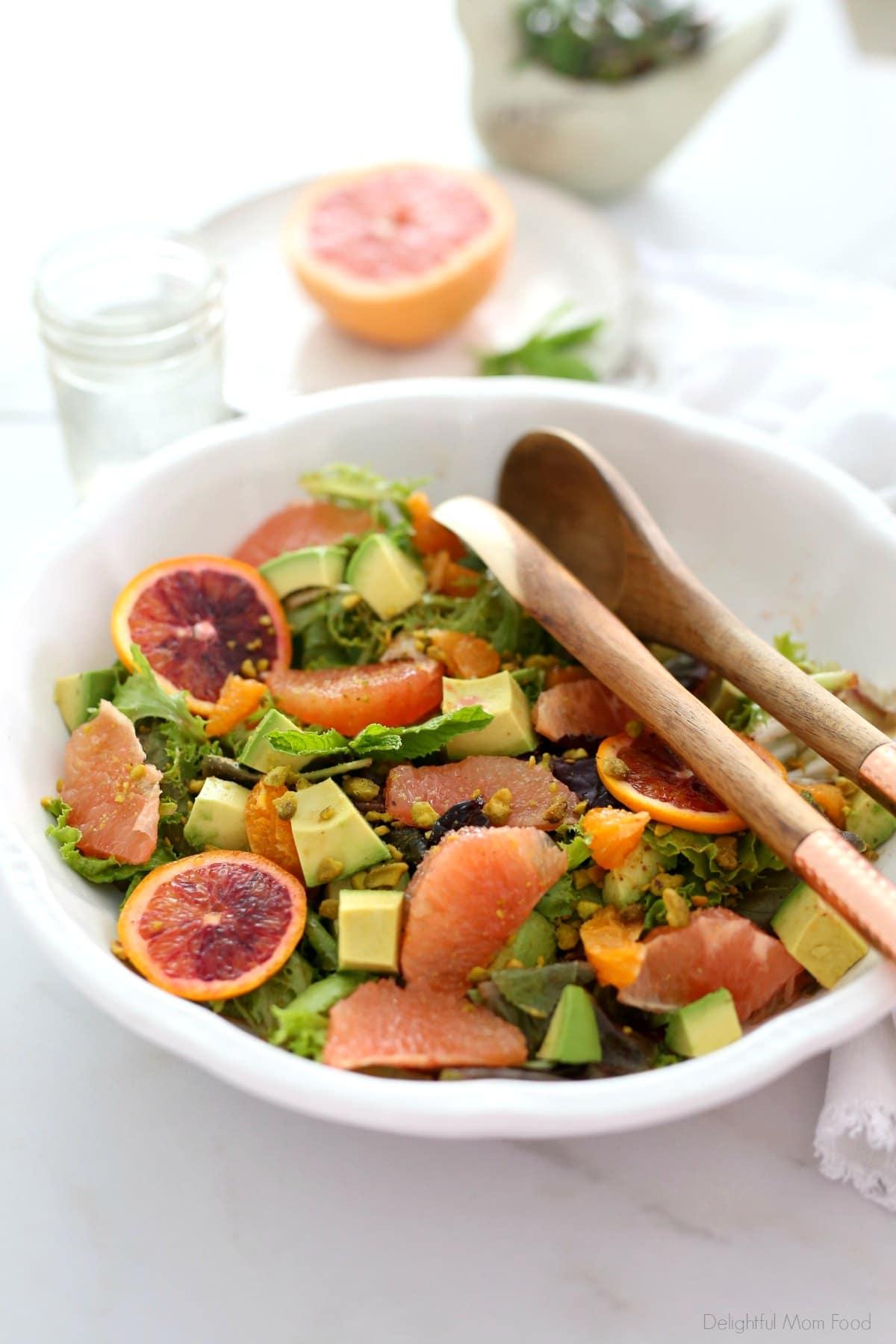 detox salad recipe on a serving platter