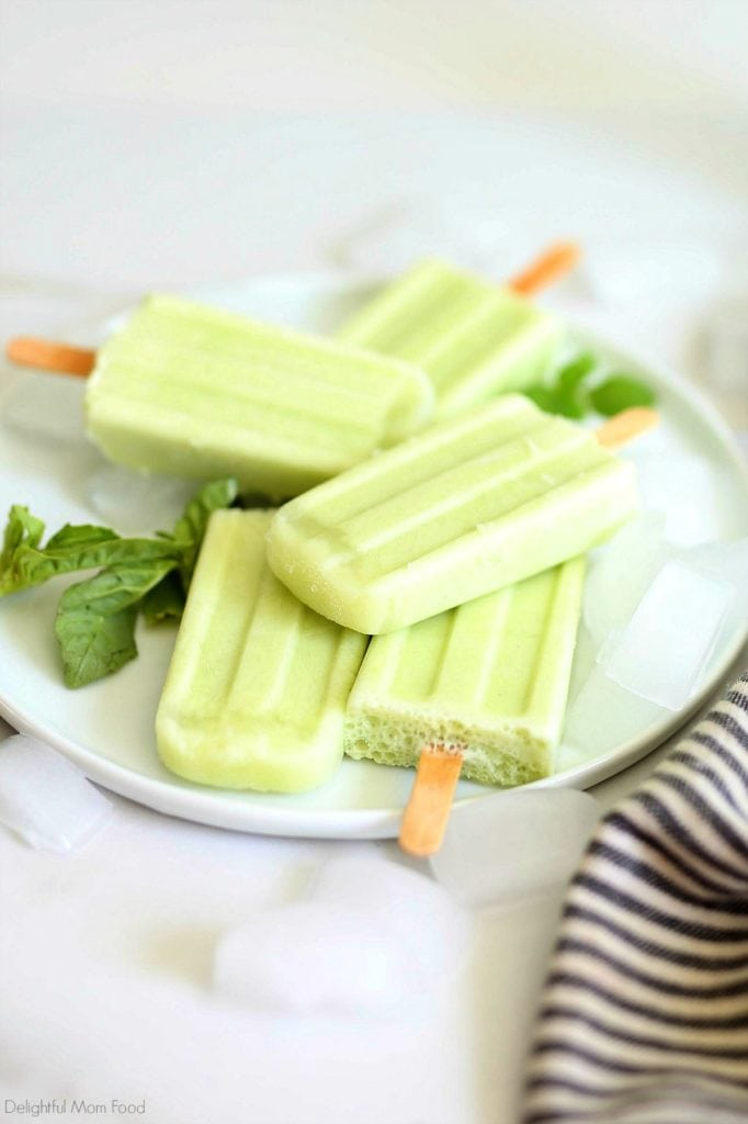 citrus and basil herb popsicles