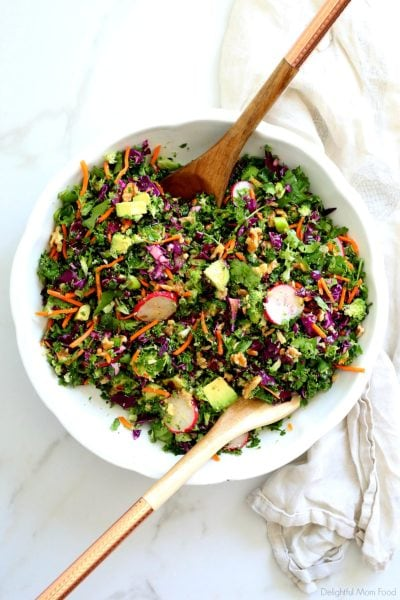 chopped kale detox salad