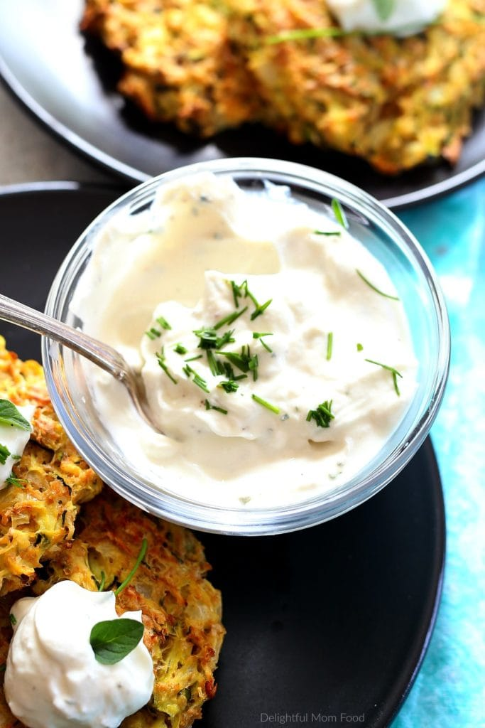 yogurt ranch dip for baked fritters