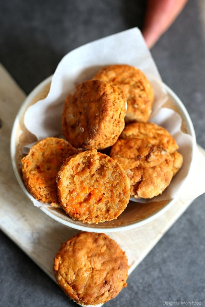 vegan gluten-free biscuits made out of sweet potatoes