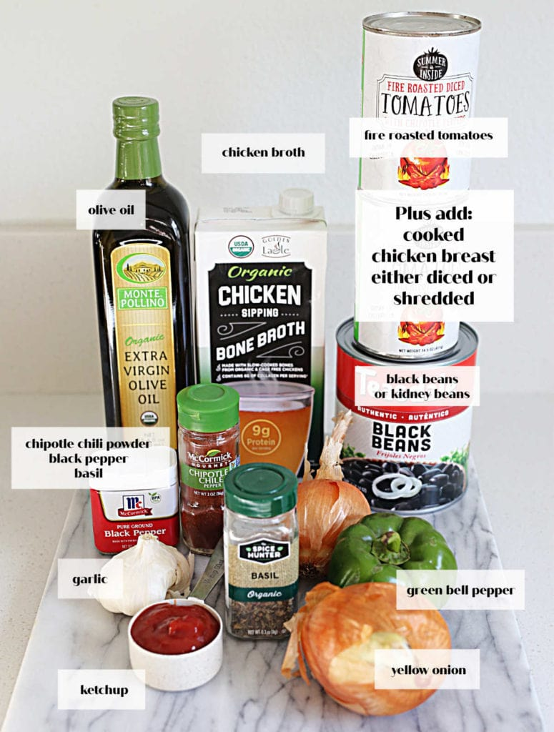 ingredients used to make chicken chipotle chili from scratch