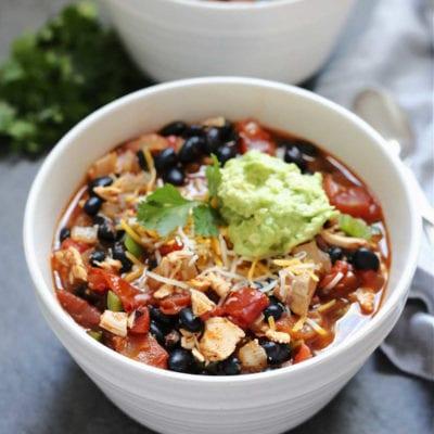bowl of chipotle chicken chili