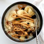 Peanut Butter Oatmeal With Bananas And Raisins
