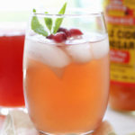 flat belly detox water with cranberry juice apple cider vinegar and lime juice