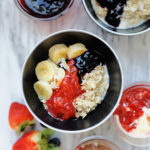 best homemade fruit compote recipe made with strawberries and blueberries without slurry ingredients using fresh or frozen fruit