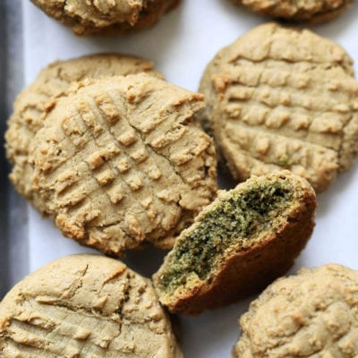 healthy gluten-free sunbutter cookies on a tray