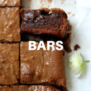 brownie slices on a parchment paper