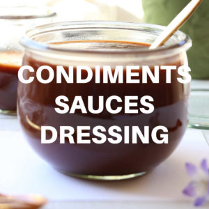 bbq sauce in a glass bowl to represent condiment recipes