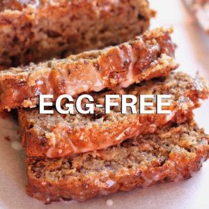 slices of egg less banana bread
