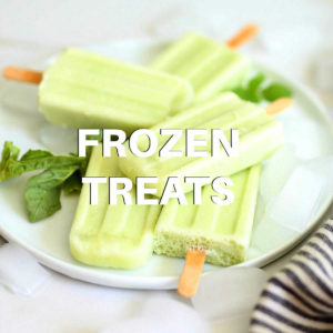 lemon popsicle frozen treats on a plate