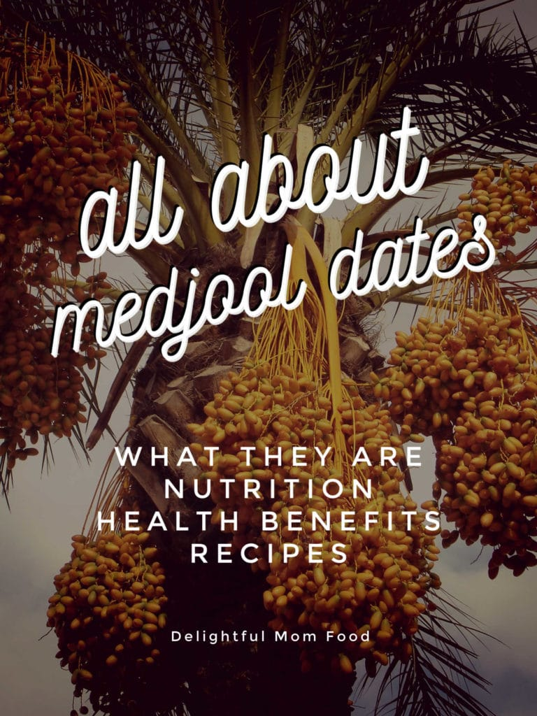 dates tree with text saying all about medjool dates