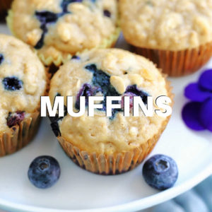 gluten-free blueberry oat muffins