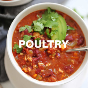a bowl of ground turkey chili