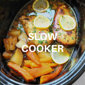 lemon honey chicken cooked in the slow cooker