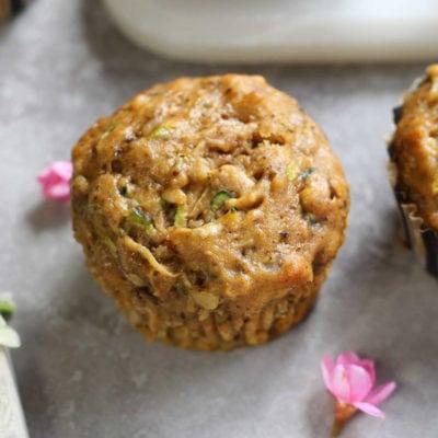 Oil-Free Zucchini Pumpkin Muffins (Gluten-Free)