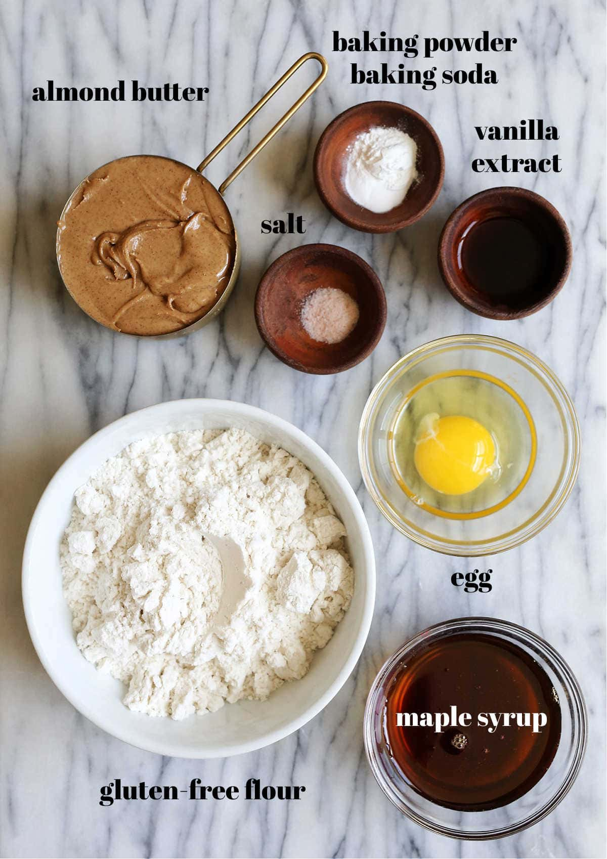 ingredients used to make gluten free almond butter cookies