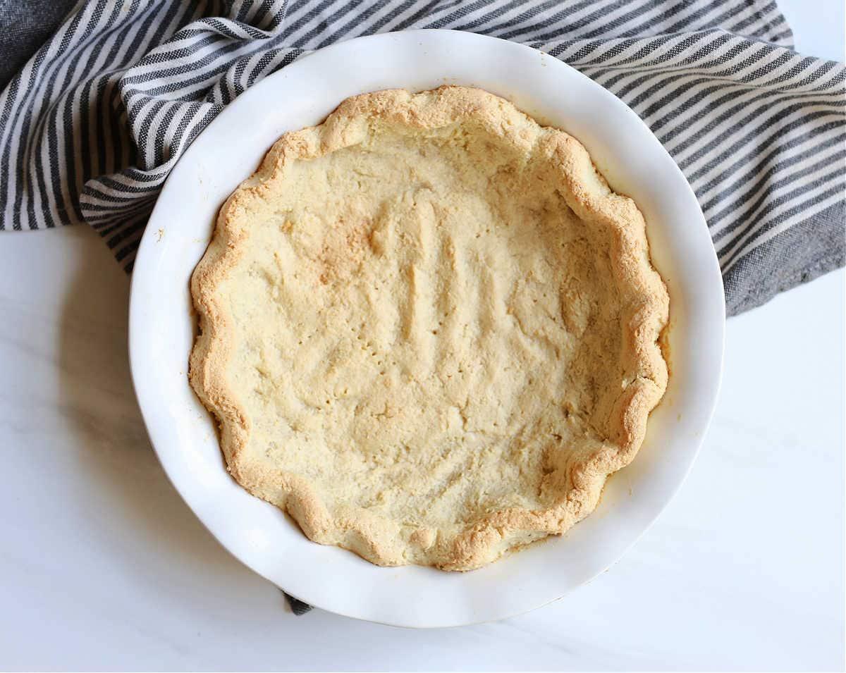 baked pie crust in a pie dish