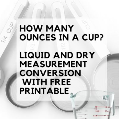 How Many Ounces In A Cup: Liquid and Dry Conversions