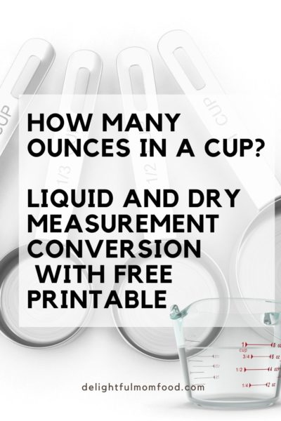 how many ounces in a cup liquid and dry measurement conversion