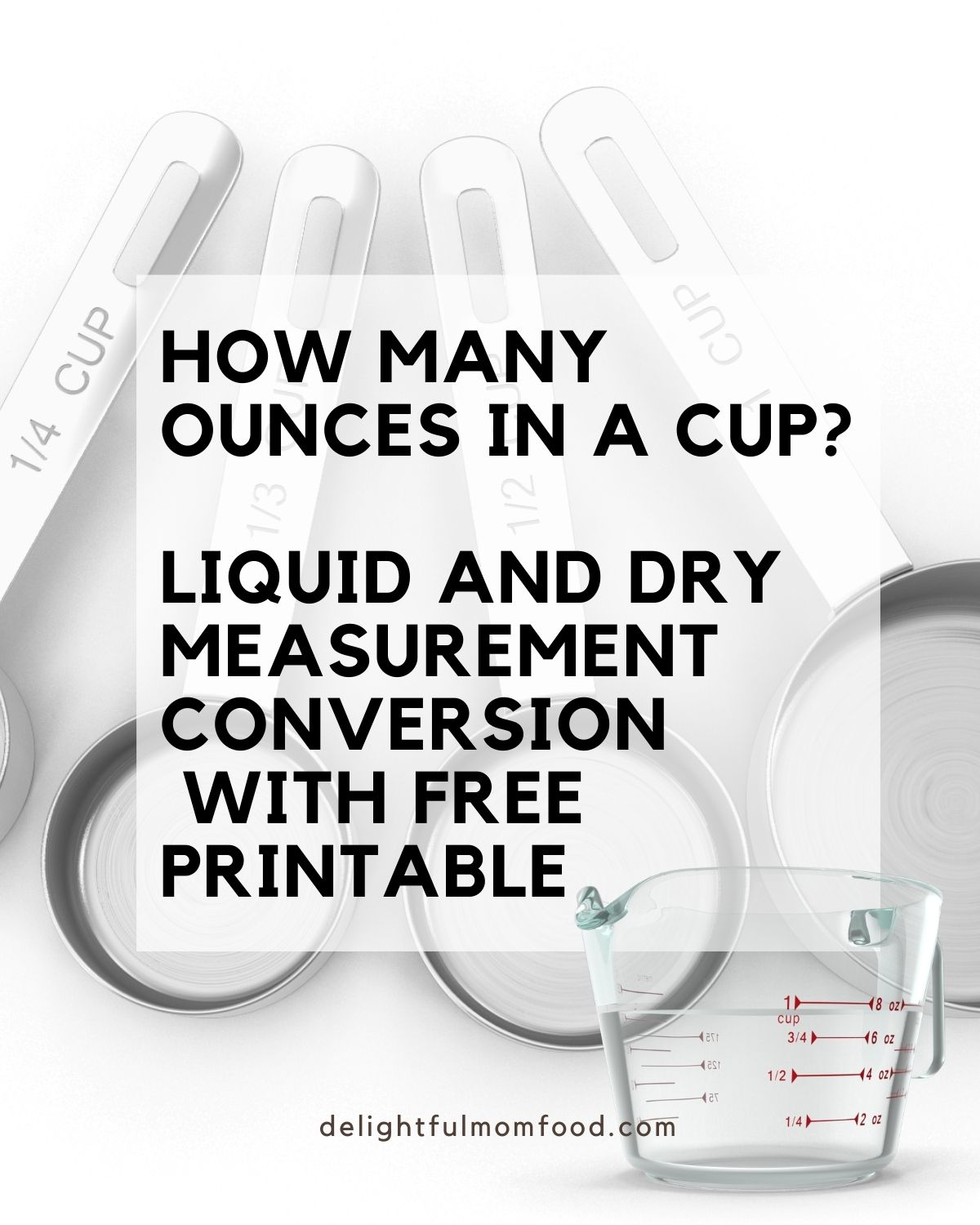 how many ounces in a cup dry and liquid conversions chart