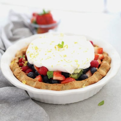 Fresh Fruit Pie Paleo Pie With Whipped Topping