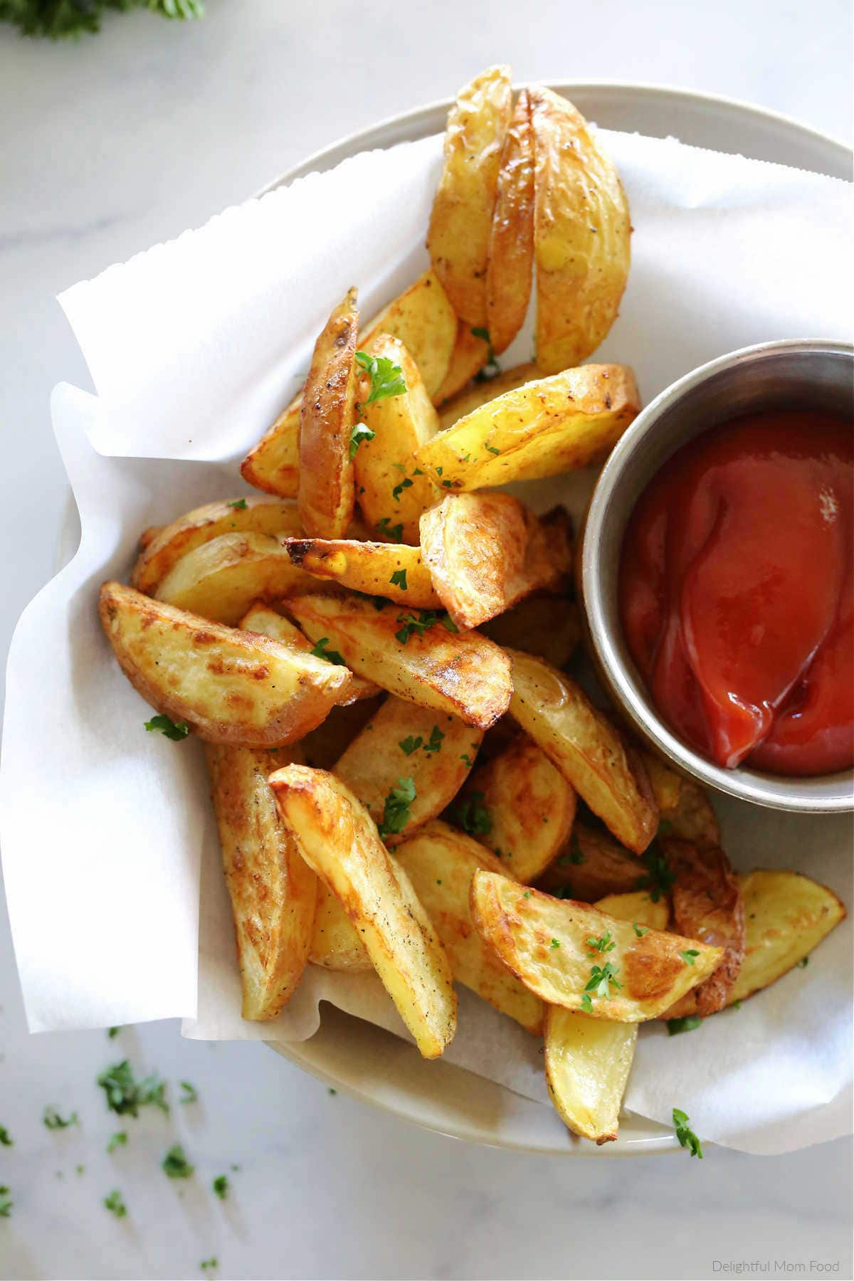 easy healthy homemade fries from scratch on a plate