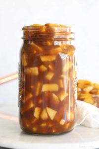 apple pie filling recipe from scratch in a mason jar